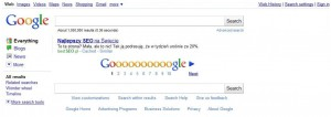 Przykładowy listing na stronie wyników wyszukiwania Google
